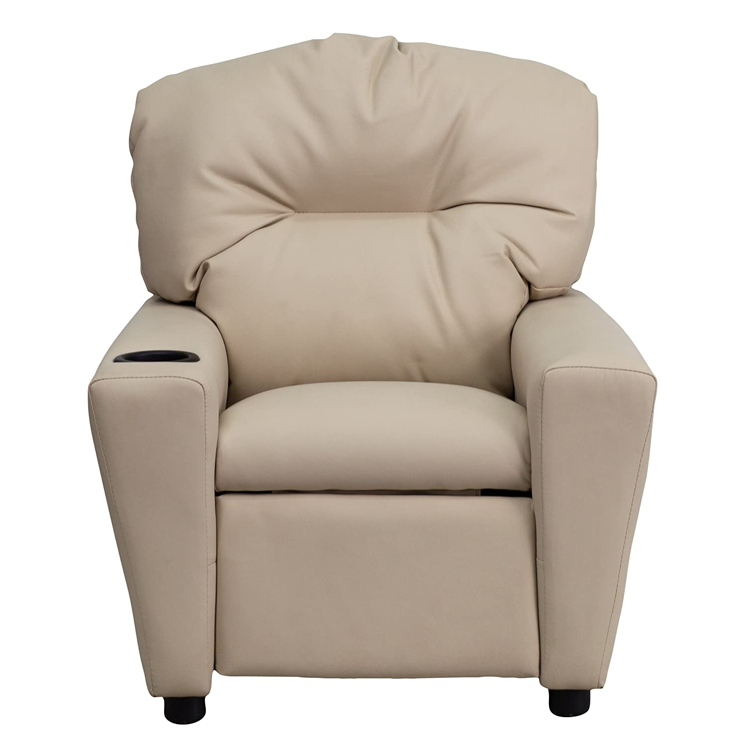 Amazon.com Flash Furniture Contemporary Beige Vinyl Kids Recliner with Cup Holder Kitchen u0026 Dining  sc 1 st  Amazon.com & Amazon.com: Flash Furniture Contemporary Beige Vinyl Kids Recliner ... islam-shia.org