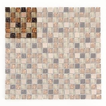 Einzigartige Struktur U2013 Glas Mosaik Fliese Mit Naturstein U2013 Ideal Für Küche  Wand Duett, Das