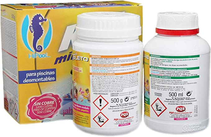PQS-1617028 kit mini piscinas cloro+antialgas: Amazon.es: Juguetes ...