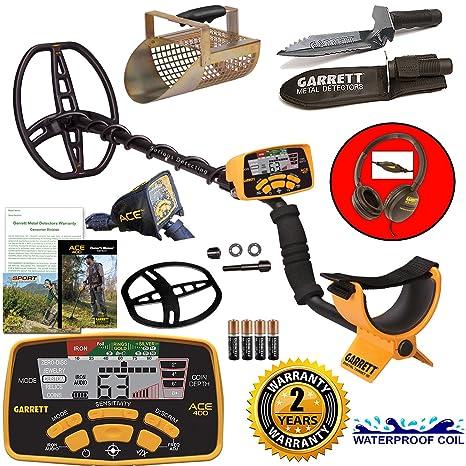 Amazon.com : Garrett ACE 400 Metal Detector with DD Waterproof Coil, Metal Scoop, and Edge Digger : Garden & Outdoor