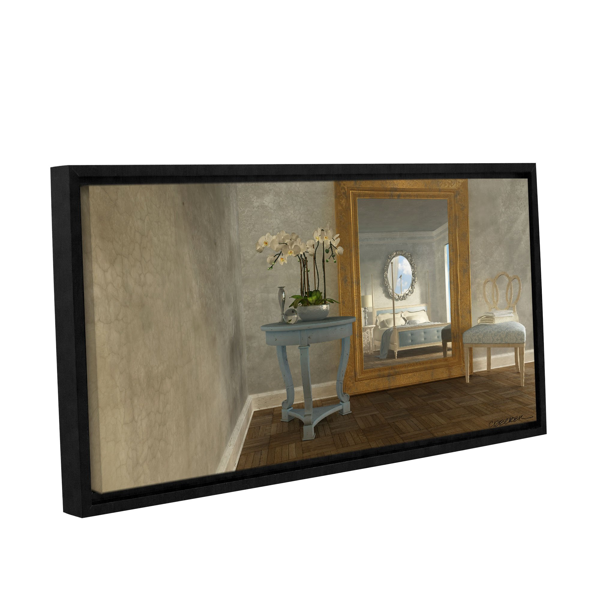ArtWall 0dec024a2448f Cynthia Decker's Reflection, Gallery-Wrapped Floater-Framed Canvas, 24-Inch x 48-Inch