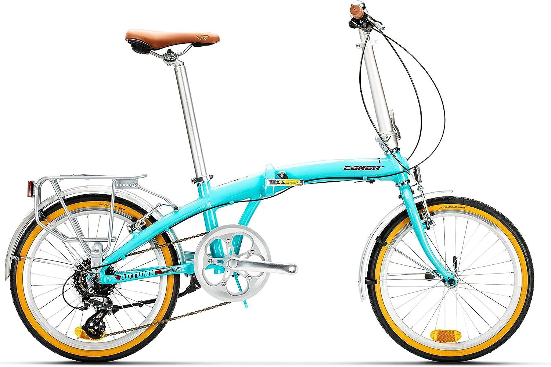 Conor Bicicleta Autumn Plegable Turquesa. Bicicleta para Ciudad ...