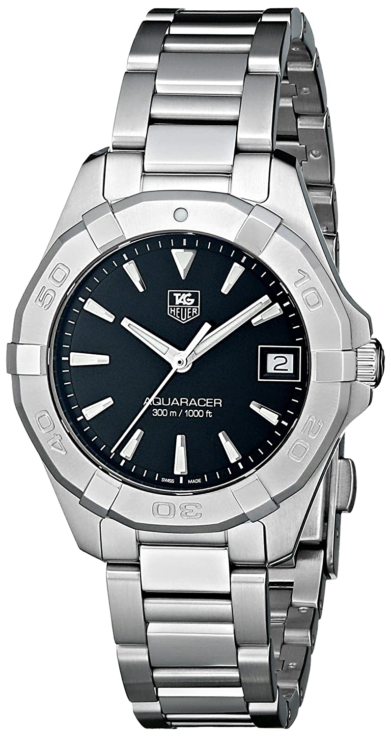 29a12df72f4 Amazon.com  TAG Heuer Women s WAY1310.BA0915 Aquaracer Silver-Tone  Stainless Steel Watch  TAG Heuer  Watches
