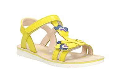 c1fd6deb3b24b Clarks Girls Out-Of-School Mimogracie Jnr Leather Sandals In Yellow ...