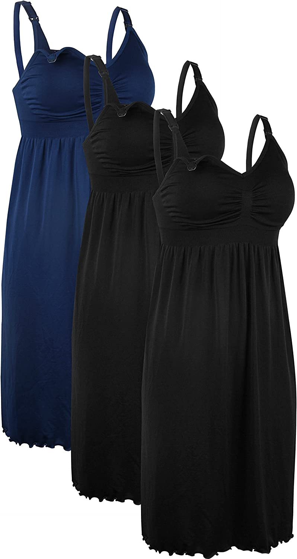 iloveSIA 3PCS Women's Maternity Breastfeeding Dress Nursing Nightgown at  Women's Clothing store