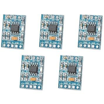 Optimus HXJ8002 - Amplificador eléctrico (5 Piezas, con Chip HXJ8002, Baja distorsión de