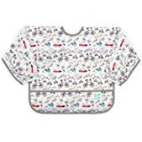 Bumkins Waterproof Sleeved Bib, Urban Bird (6-24 Months)