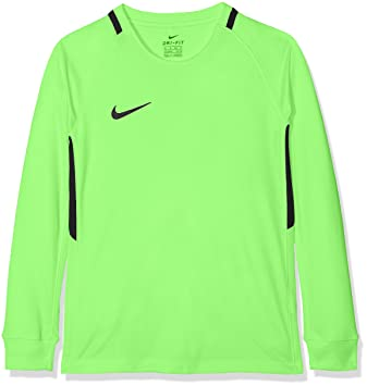 1ea2522c95ff4 Nike Kids Park III Football Jersey Long Sleeved T-Shirt, Green Strike (Black