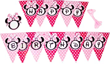 Minnie Mouse Happy Birthday Party Banner