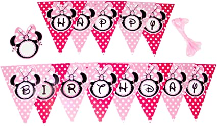 Amazon.com: Minnie mouse feliz cumpleaños Banner: Toys & Games