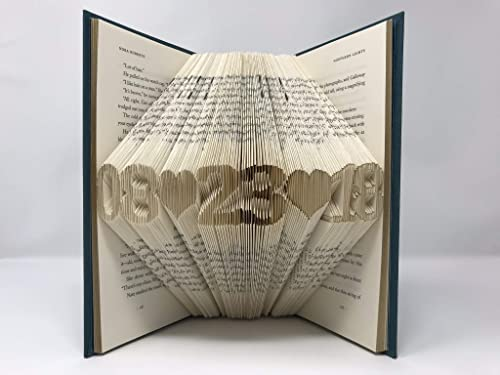 NiCe Folded Book Art – Amazing Gift for Boyfriend, Girlfriend, Wedding, Anniversary, Birthday, Christmas – Any Special Date