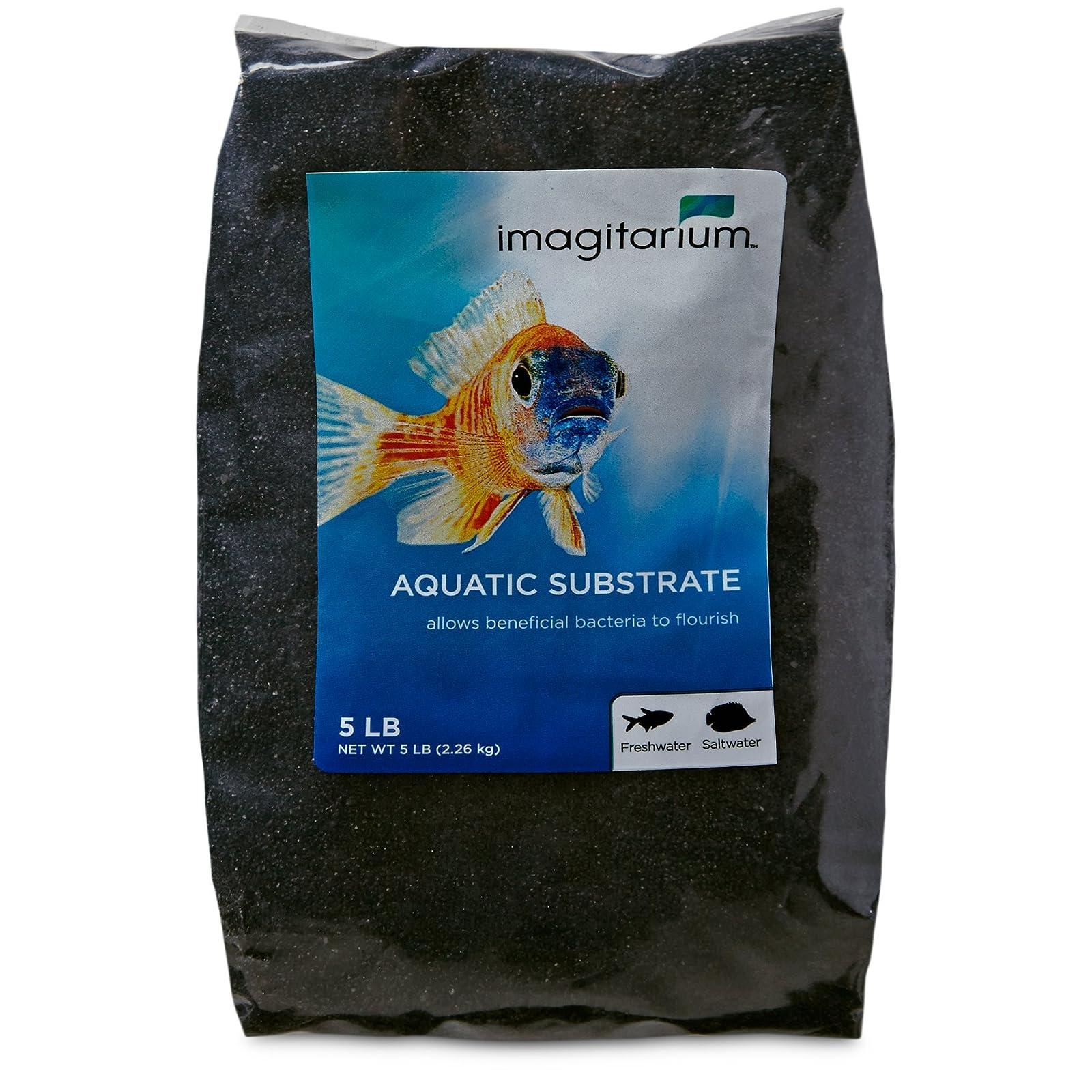 Imagitarium Black Aquarium Sand 5 lbs (5lb) - 1