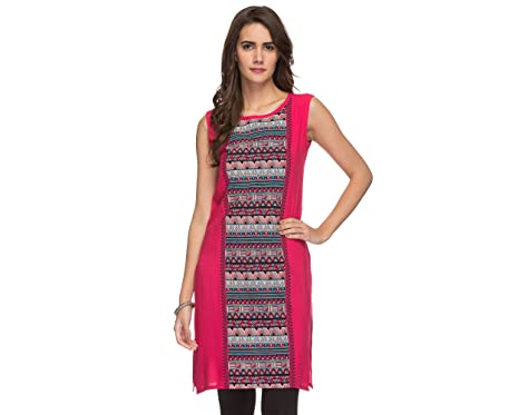 5da28e0971eee9 Srishti Women s Pink Regular Tunic  Amazon.in  Clothing   Accessories