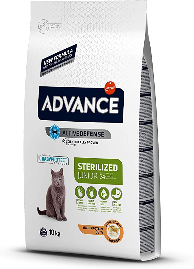 Advance Pienso para Gato Esterilizado Junior - 10 kg