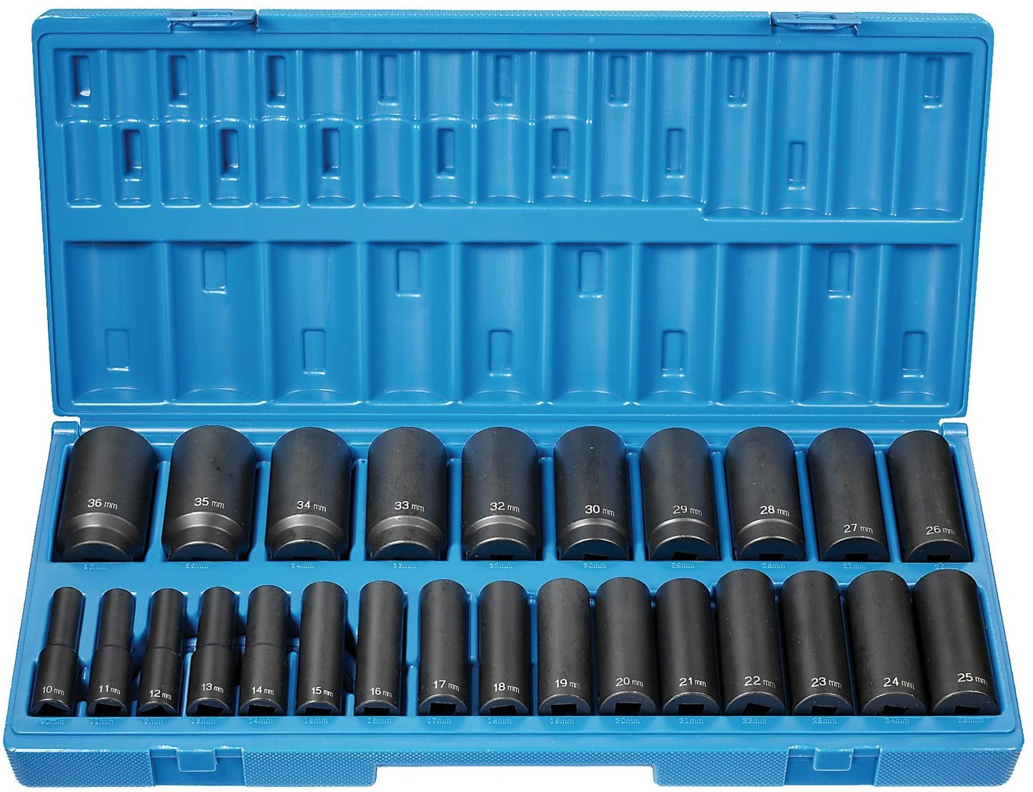 26-Piece 1//2 in Drive Deep Length Metric Socket Set GRY-1726MD Brand New!