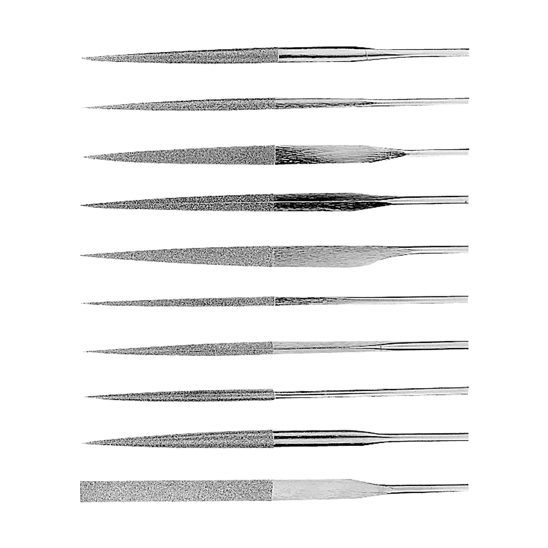 5.5 Length 5.5 Length ABS Import Tools Inc HHIP 3000-0062 10 Piece Medium D126 Diamond Needle File Set