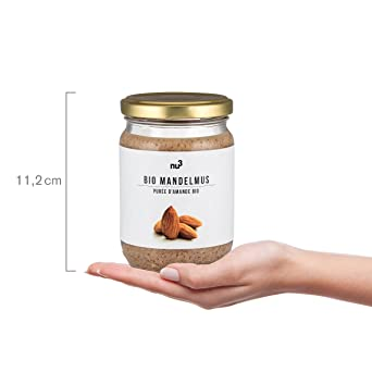 nu3 Crema de almendra para untar | 250g en tarro de vidrio | Puré de almendra (con cáscara) natural nativa de España e Italia | Mantequilla de semillas ...