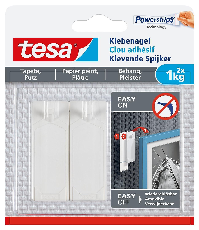 tesa Klebenagel für Tapeten und Putz/Selbstklebende Nägel für ...