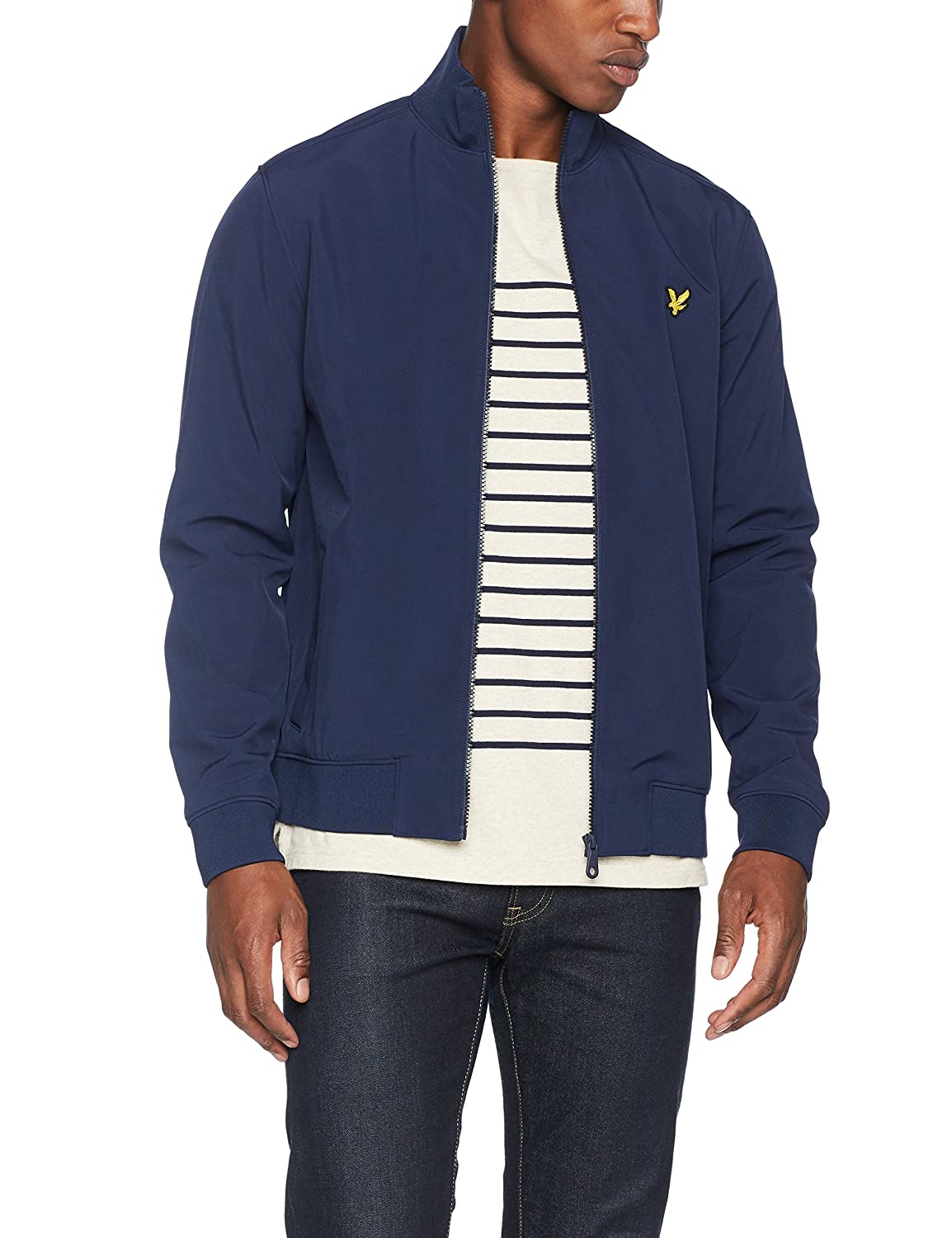TALLA M. Lyle & Scott Zip Through Funnel Neck Soft Shell Jacket Chaqueta para Hombre