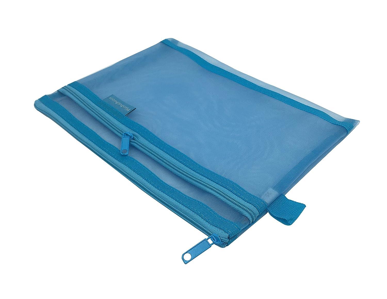 b/ürobedarf Zip Dateien Dokument brieftasche mesh ordner foolscap brieftaschen taschen ordner f/ür kosmetika packung mit 3 zubeh/ör