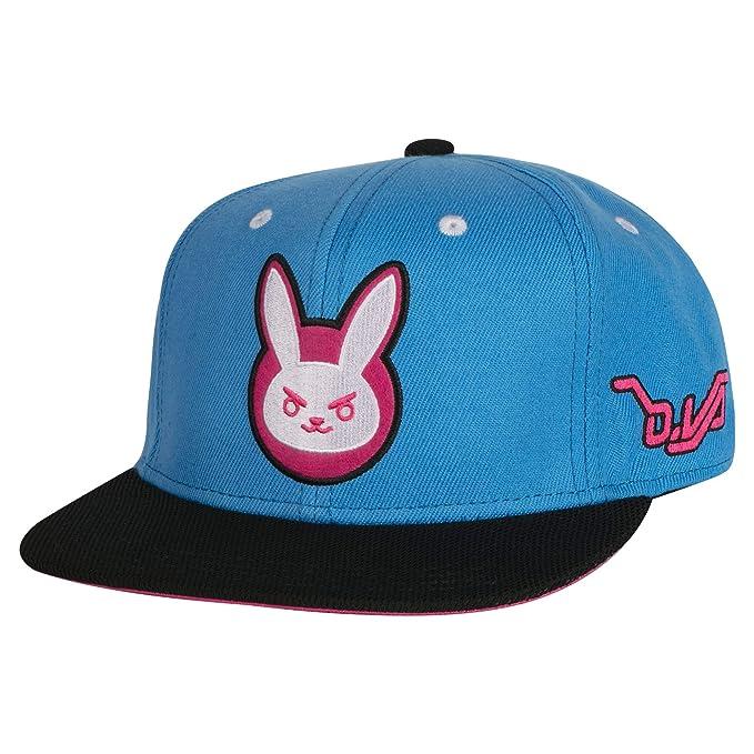 Amazon.com  JINX Overwatch D.Va Target Snapback Baseball Hat (Blue ... 0907f52f58c4
