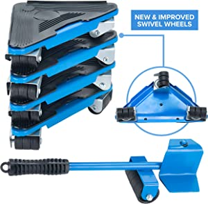 PRIMO SUPPLY Furniture Moving Tool - Heavy Furniture Corner Sliders - Mover Tool Set for Office, Home, Shop, Garage Heavy Lifter - Appliance Moving System - Easy Moving Appliance Rollers Logistics Set