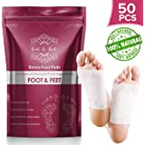 50 Pcs Foot Pads - All Natural Detox Foot Pads, Improves Metabolism & Quality of Sleep, Relieves Foot Pain, Stress & Toxin, Increases Energy Level, Premium Foot Detox Pads, Health Product for Feet