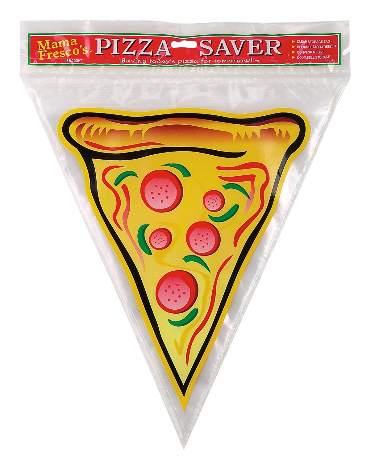 """Mama Fresco's 8911 10"""" x 11"""" Reusable Pizza Saver Food Storage Bags, BPA Free, Pack of 12, 10 x 11-Inches"""