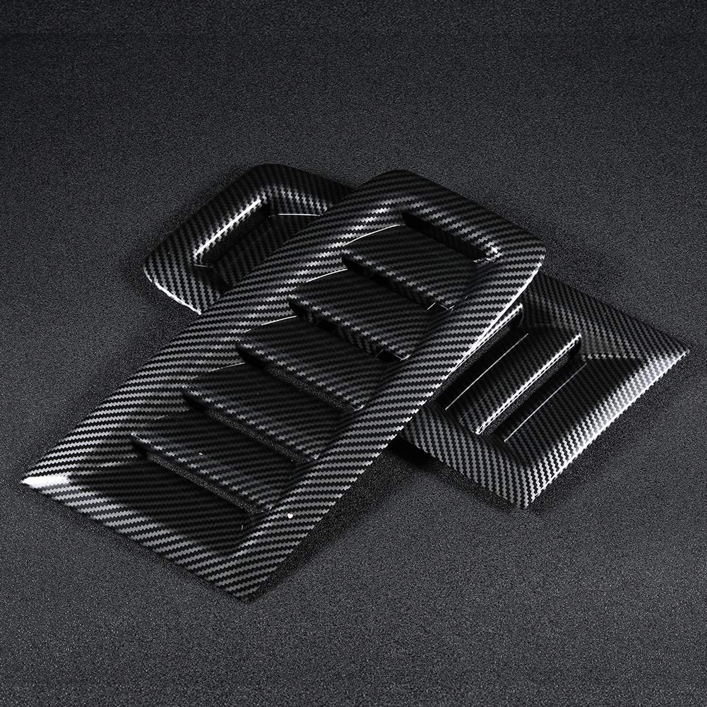 DEALPEAK ABS Car Modified Accessory Bonnet Hood Air Vent Cover Fits for Auto RS MK2 Series 3 Styles Optional