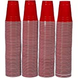 AmazonBasics 16-Ounce Disposable Plastic Cups, Red - Pack of 240