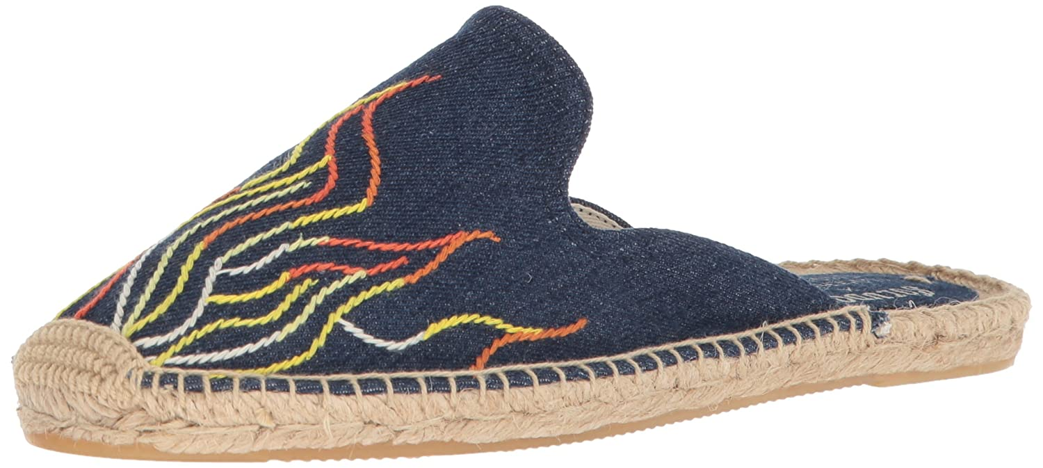 Soludos Women's Stitched Flames Mule Slipper