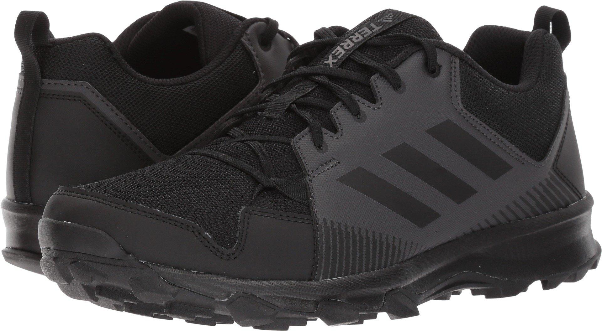 adidas outdoor Men's Terrex Tracerocker Trail Running Shoe, Black/Black/Utility Black, 12 D US