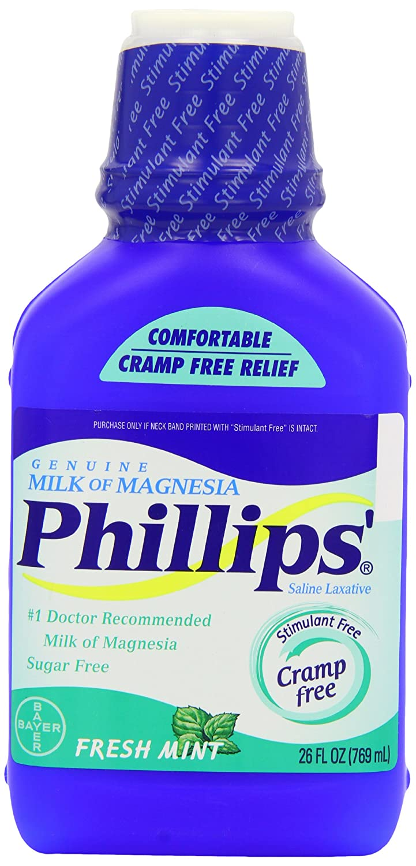 Phillips Phillips Milk Of Magnesia Fresh Mint, Fresh Mint 26 oz: Amazon.es: Salud y cuidado personal