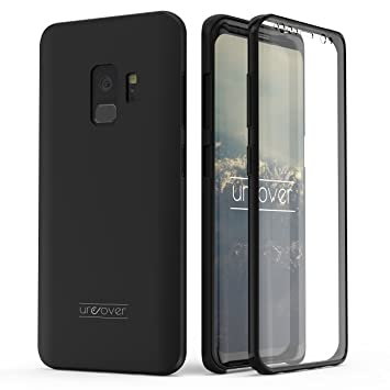 Urcover Funda Compatible con Samsung Galaxy S9 Carcasa Mejorada Cover 360 Grados, edicion Dura, Carga inalámbrica Qi, Case Transparente Crystal Clear ...