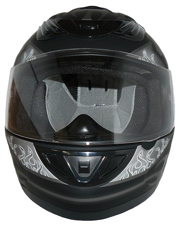 Schwarz//Wei/ß Protectwear Motorradhelm Design 99 M
