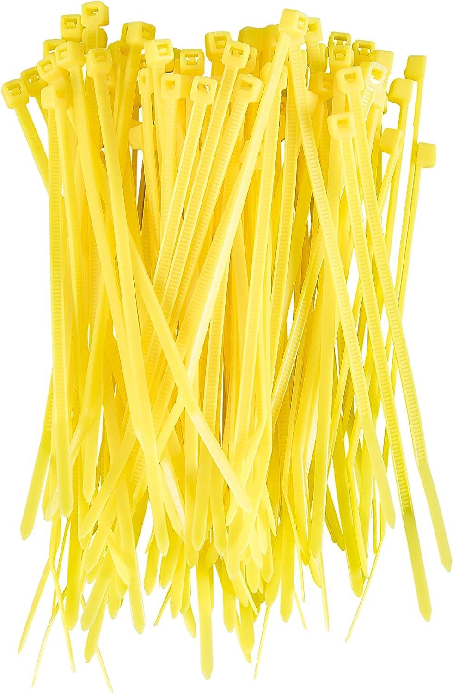 qualitativ hochwertiges Nylon 140/mm x 3,6/mm gelb Gocabilities 100/St/ück farbige Premium-Kabelbinder