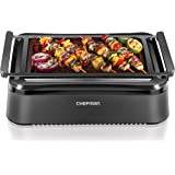 Chefman Electric Smokeless Indoor Grill with Infrared Instant Heating Technology