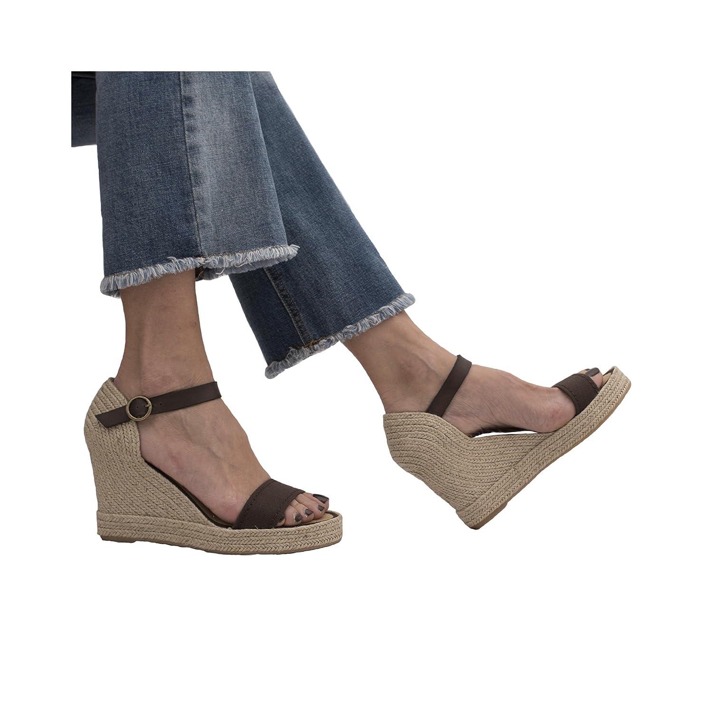 MTBALI Sandalen mit Keilabsatz Damen ... Alpargata Damen Keilabsatz ... Damen aa390b