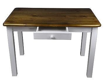 Esstisch mit Schublade Küchentisch Tisch Restaurant Massiv holz ...
