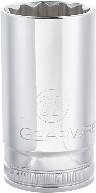 GearWrench 80826 1//2-Inch Drive 12 Point Deep Socket 30mm