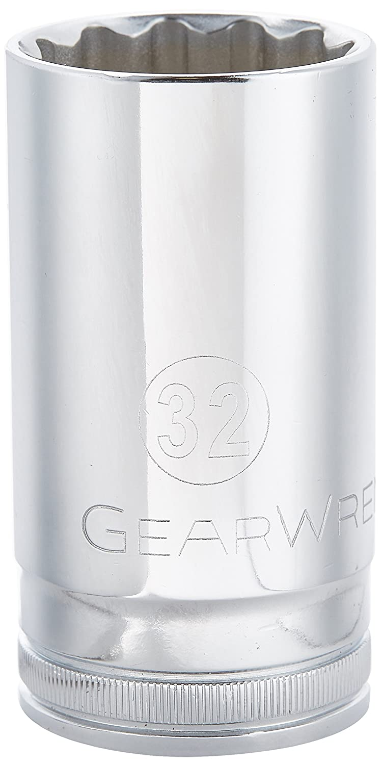 GearWrench 80824 1//2-Inch Drive 12 Point Deep Socket 27mm