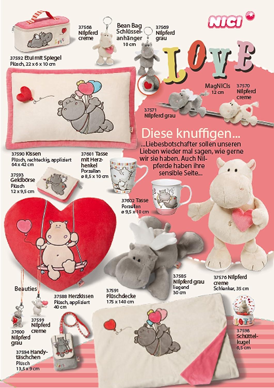 grau Pl/üschtier Nici 37579 Love Nilpferd Schlenker 45 cm