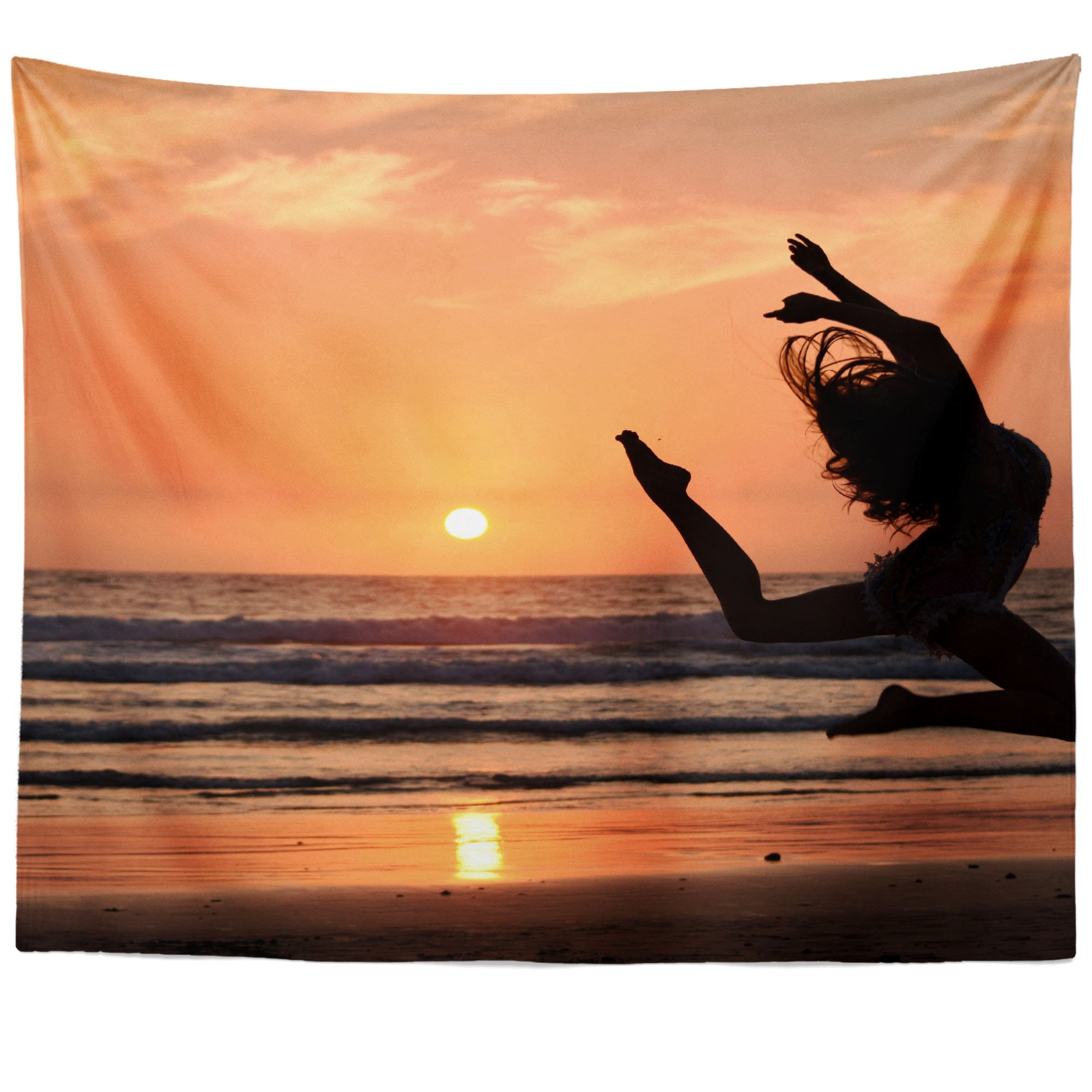 Westlake Art - Dance Sunset - Wall Hanging Tapestry - Picture Photography Artwork Home Decor Living Room - 68x80 Inch (8051-2A225)