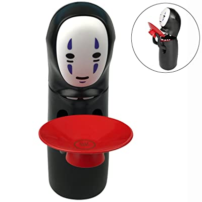 Vanxse Spirited Away Kaonashi No-Face Automatic Eating Coin Saving Money Piggy Bank Music Box Figure Funny Gift Toy for both Kids and adults