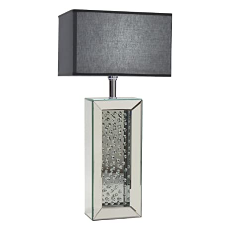 Perfect Aspire Carroll Mirrored Table Lamp, Silver