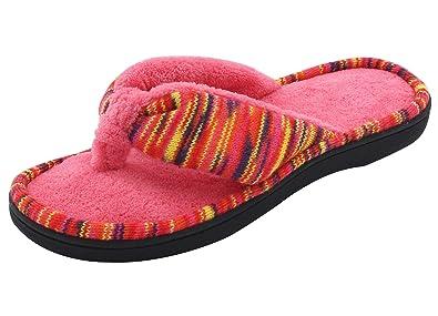 Amazon.com | RockDove Women\'s Open Toe Memory Foam Flip Flop ...