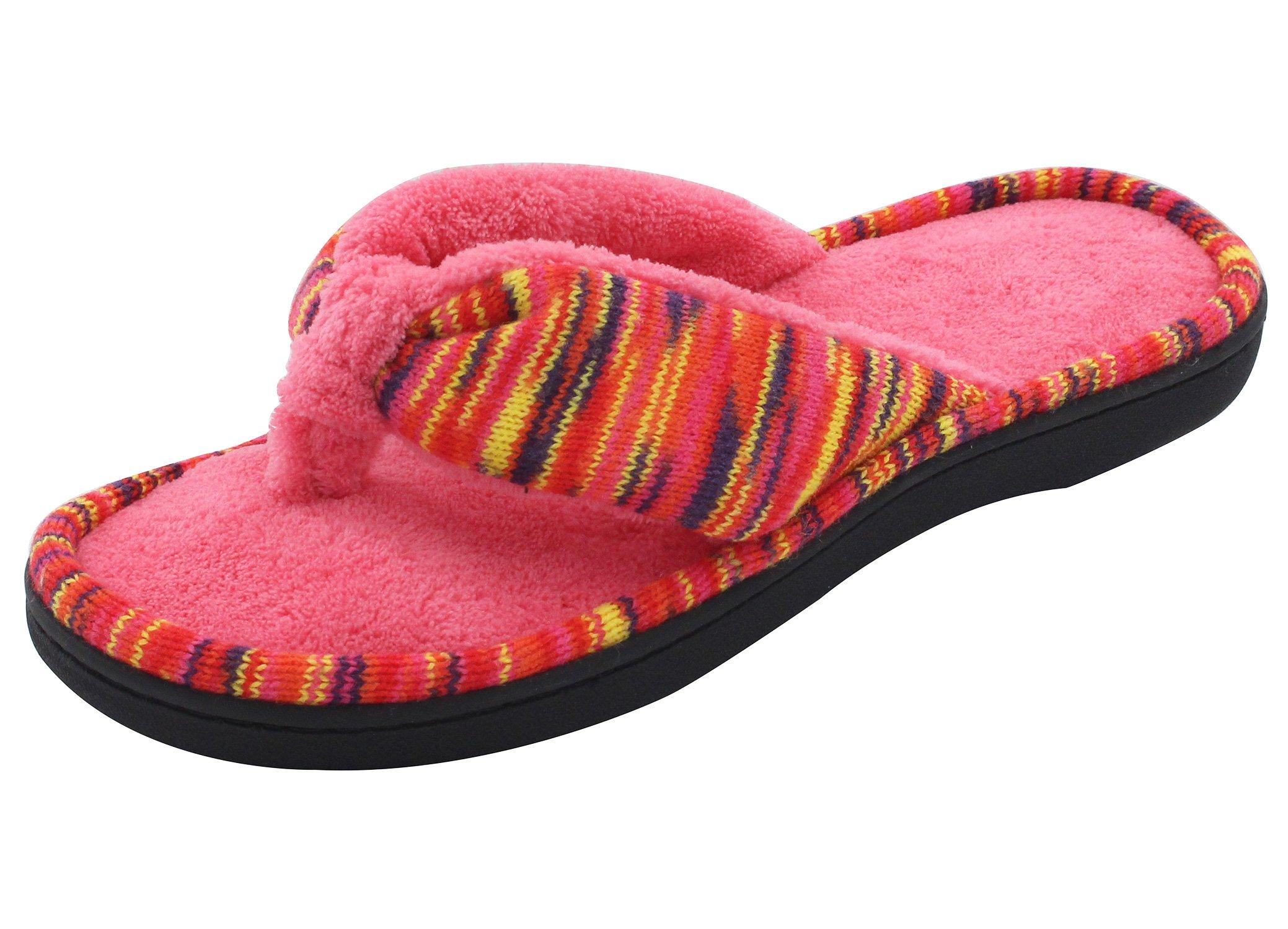f823dd79ae024 Galleon - RockDove Women s Open Toe Memory Foam Flip Flop Slippers ...