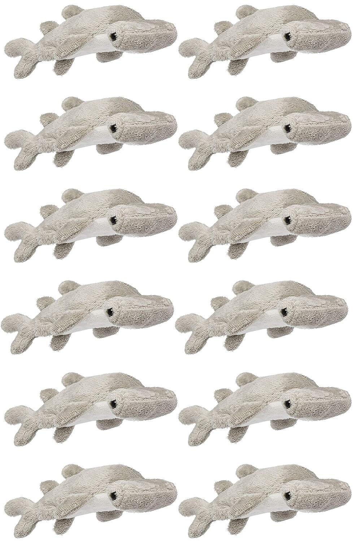 "Wildlife Tree 12 Pack Hammerhead Shark 4"" Small Stuffed Animals, Bulk Bundle Ocean Animal Toys, Sea Party Favors for Kids"