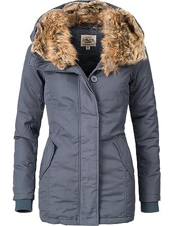 7444ee43af9d Sublevel Damen Jacke Winterjacke 44406A1 3 Farben S-XL  Amazon.de   Bekleidung