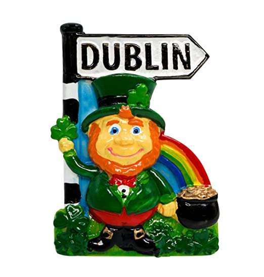 zamonji Leprechaun, Dublin Irlanda | 3D Imán De Resina para Nevera ...